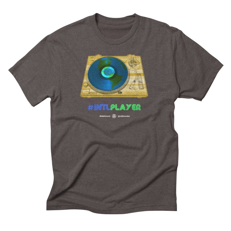INTLPLAYER B-side Men's Triblend T-Shirt by Ankh, Shield & Circle