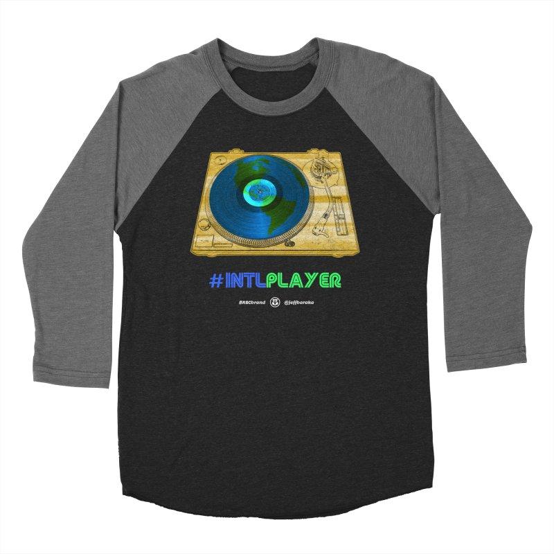 INTLPLAYER B-side Women's Baseball Triblend Longsleeve T-Shirt by Ankh, Shield & Circle