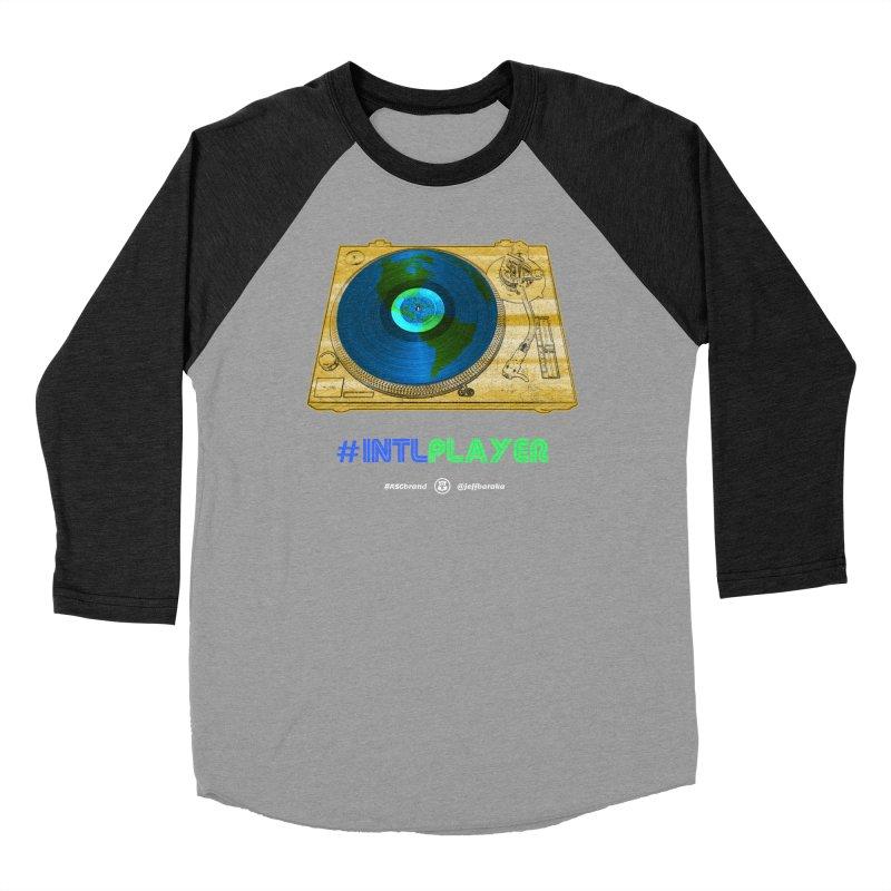 INTLPLAYER B-side Men's Baseball Triblend Longsleeve T-Shirt by Ankh, Shield & Circle