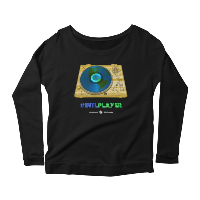 INTLPLAYER B-side Women's Scoop Neck Longsleeve T-Shirt by Ankh, Shield & Circle