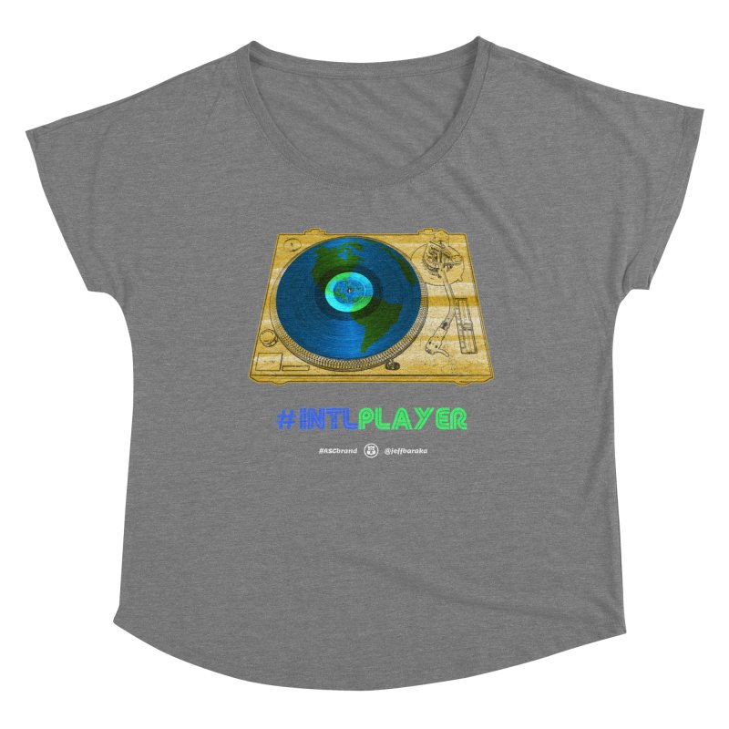 INTLPLAYER B-side Women's Scoop Neck by Ankh, Shield & Circle