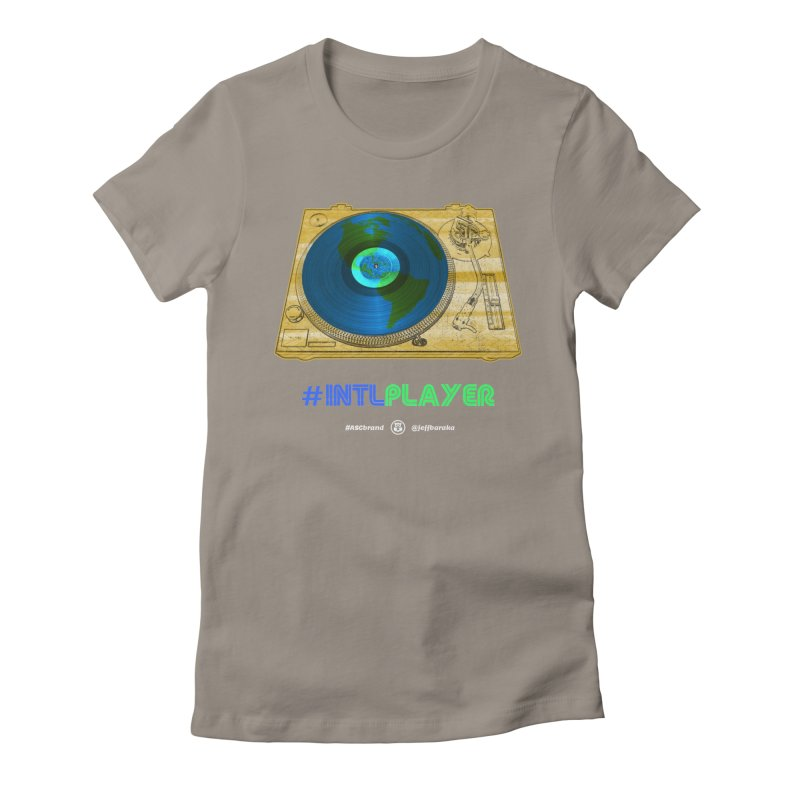 INTLPLAYER B-side Women's Fitted T-Shirt by Ankh, Shield & Circle