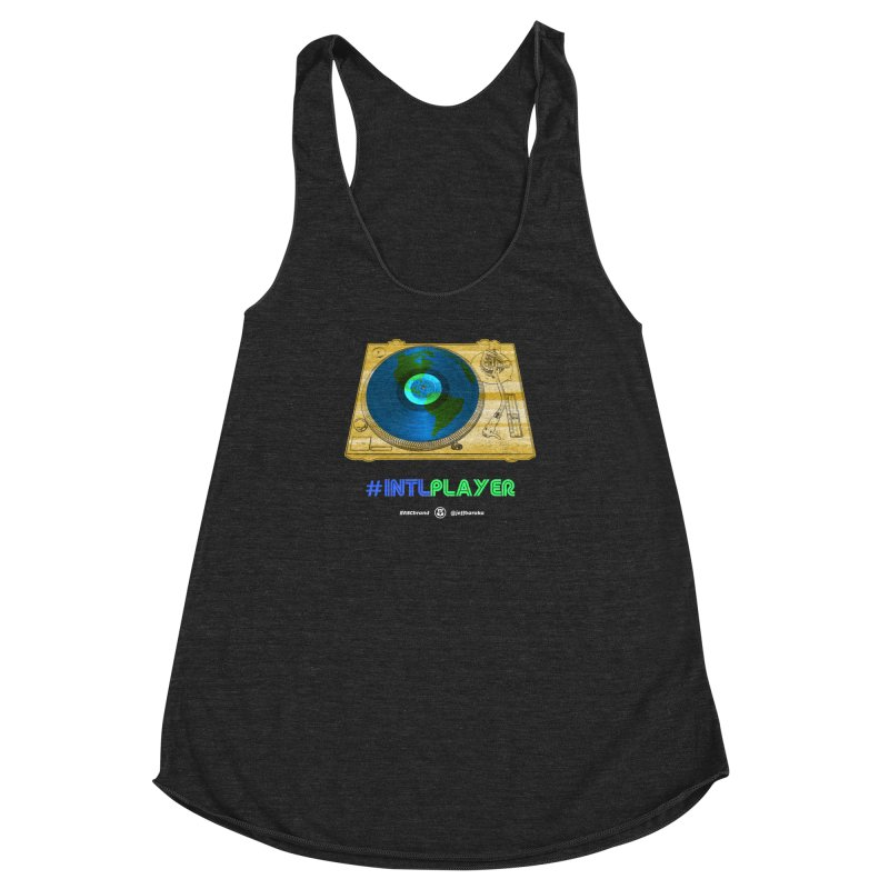 INTLPLAYER B-side Women's Racerback Triblend Tank by Ankh, Shield & Circle