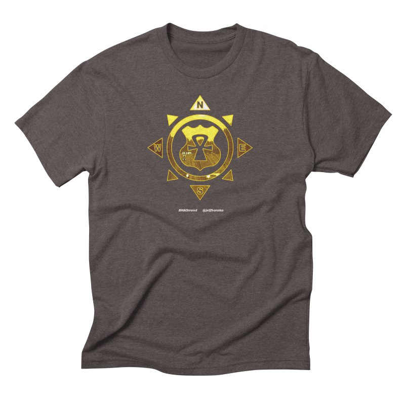 ASC Compass in Men's Triblend T-Shirt Tri-Coffee by Ankh, Shield & Circle