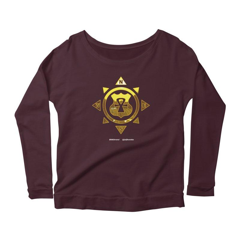ASC Compass Women's Scoop Neck Longsleeve T-Shirt by Ankh, Shield & Circle