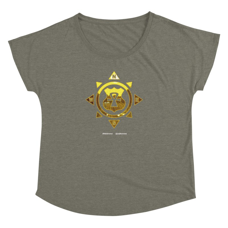 ASC Compass Women's Dolman Scoop Neck by Ankh, Shield & Circle