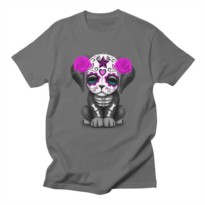 07c9092f0 Cute Pink Day of the Dead Puppy Dog Men's T-Shirt by jeffbartels's Artist  Shop