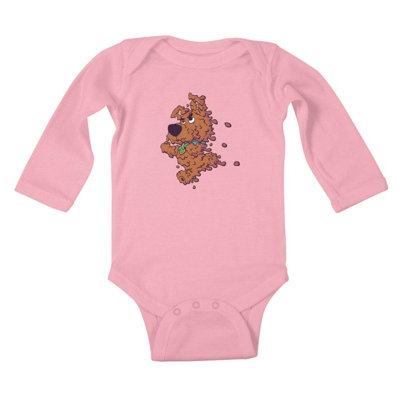 Drippy-Doo Kids Baby Longsleeve Bodysuit by jeffboarts's Artist Shop