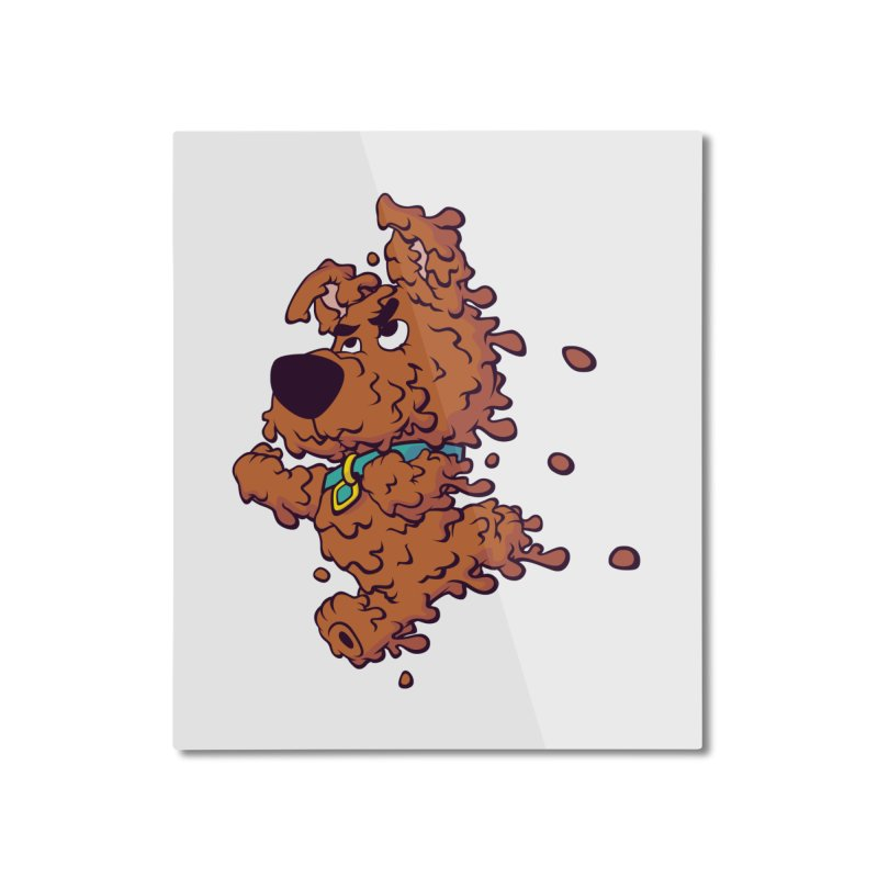 Drippy-Doo Home Mounted Aluminum Print by jeffboarts's Artist Shop