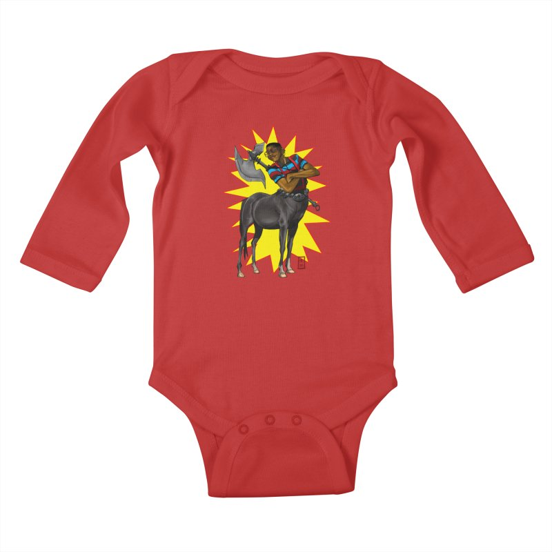 Warrior Scholar Kids Baby Longsleeve Bodysuit by jeffcarpenter's Artist Shop