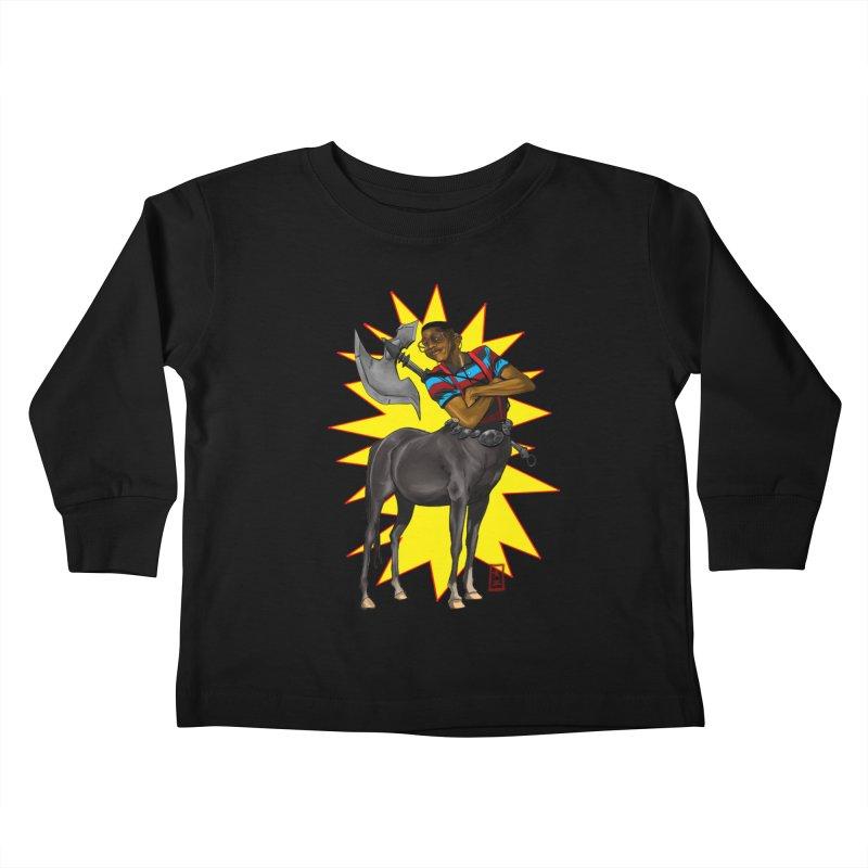 Warrior Scholar Kids Toddler Longsleeve T-Shirt by jeffcarpenter's Artist Shop