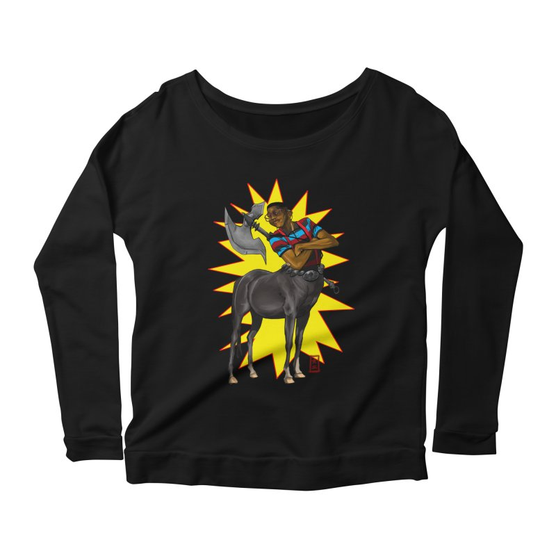 Warrior Scholar Women's Longsleeve Scoopneck  by jeffcarpenter's Artist Shop