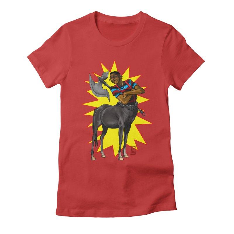 Warrior Scholar Women's Fitted T-Shirt by jeffcarpenter's Artist Shop