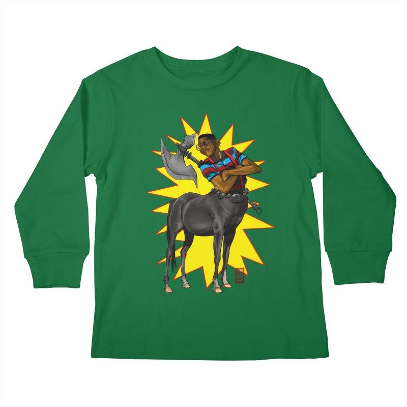Warrior Scholar Kids Longsleeve T-Shirt by jeffcarpenter's Artist Shop