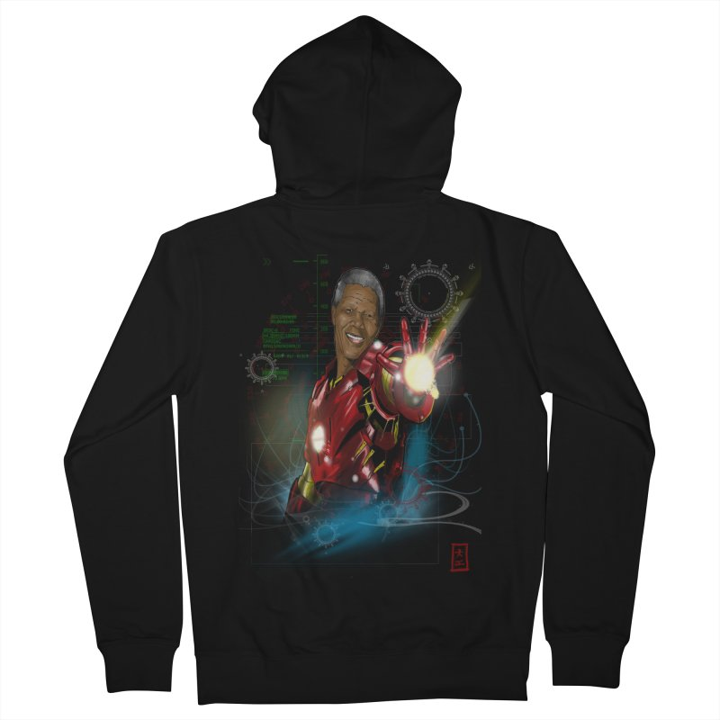 Iron Mandela Women's Zip-Up Hoody by jeffcarpenter's Artist Shop