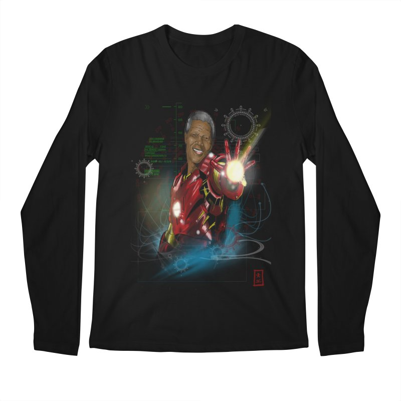 Iron Mandela Men's Longsleeve T-Shirt by jeffcarpenter's Artist Shop