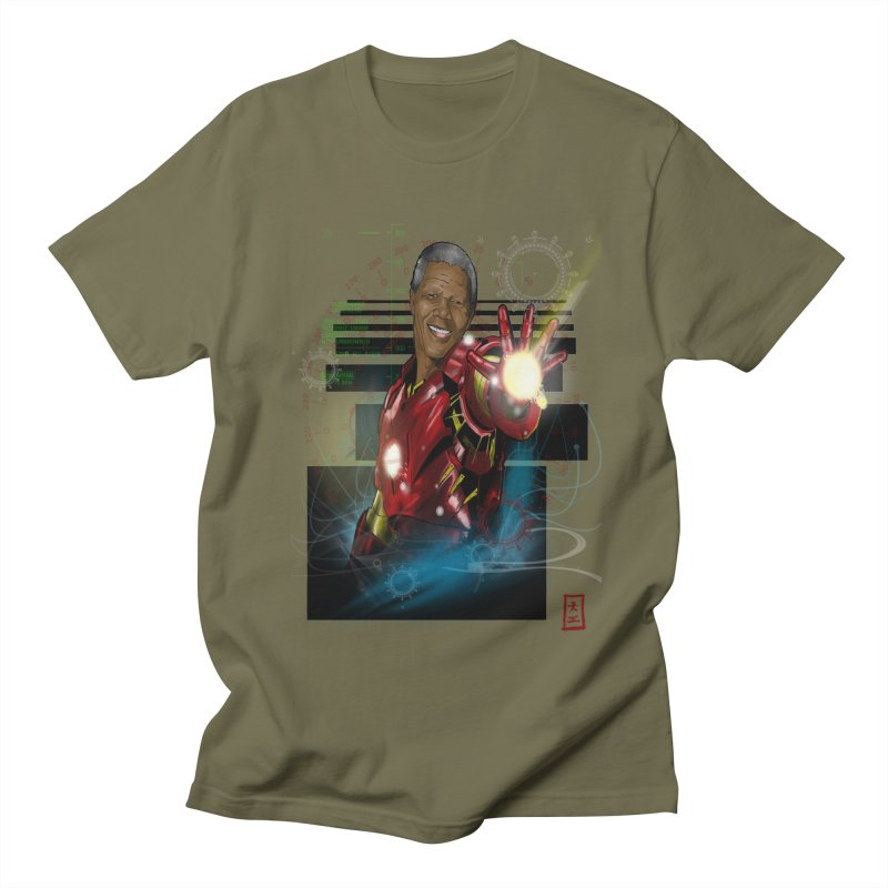 Iron Mandela Men's T-shirt by jeffcarpenter's Artist Shop