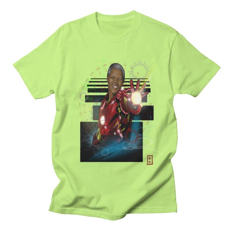 Iron Mandela Men's T-Shirt by jeffcarpenter's Artist Shop
