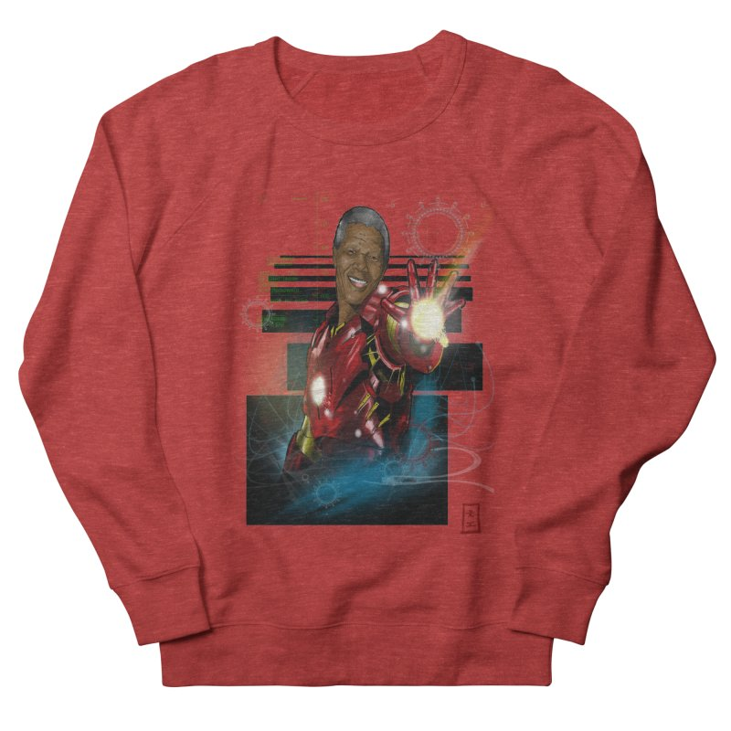 Iron Mandela Men's Sweatshirt by jeffcarpenter's Artist Shop