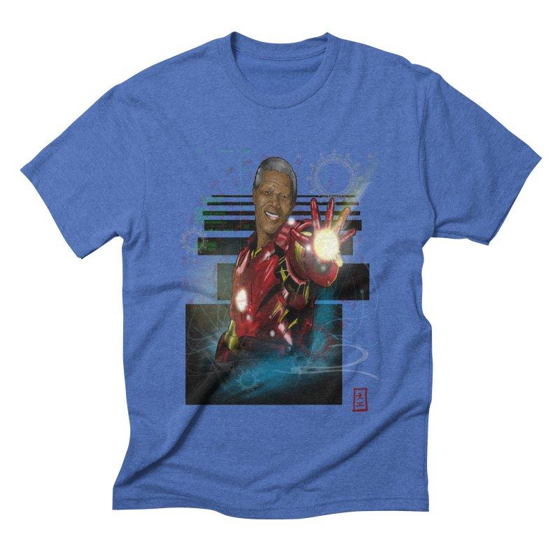Iron Mandela Men's Triblend T-Shirt by jeffcarpenter's Artist Shop