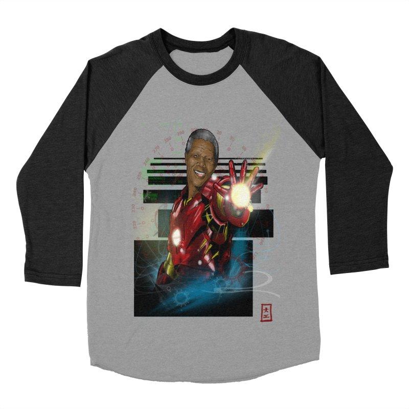 Iron Mandela Women's Baseball Triblend T-Shirt by jeffcarpenter's Artist Shop