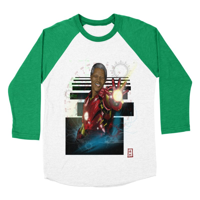 Iron Mandela Men's Baseball Triblend T-Shirt by jeffcarpenter's Artist Shop