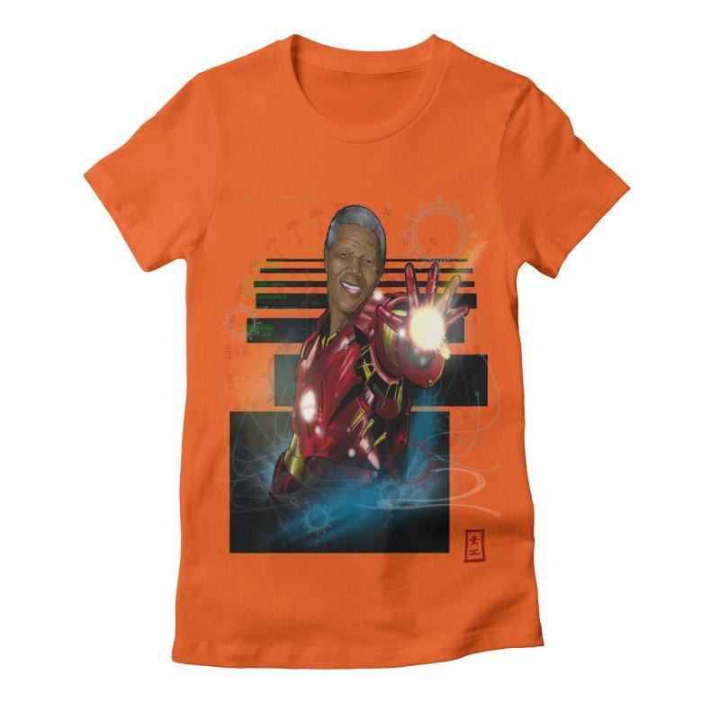 Iron Mandela Women's Fitted T-Shirt by jeffcarpenter's Artist Shop
