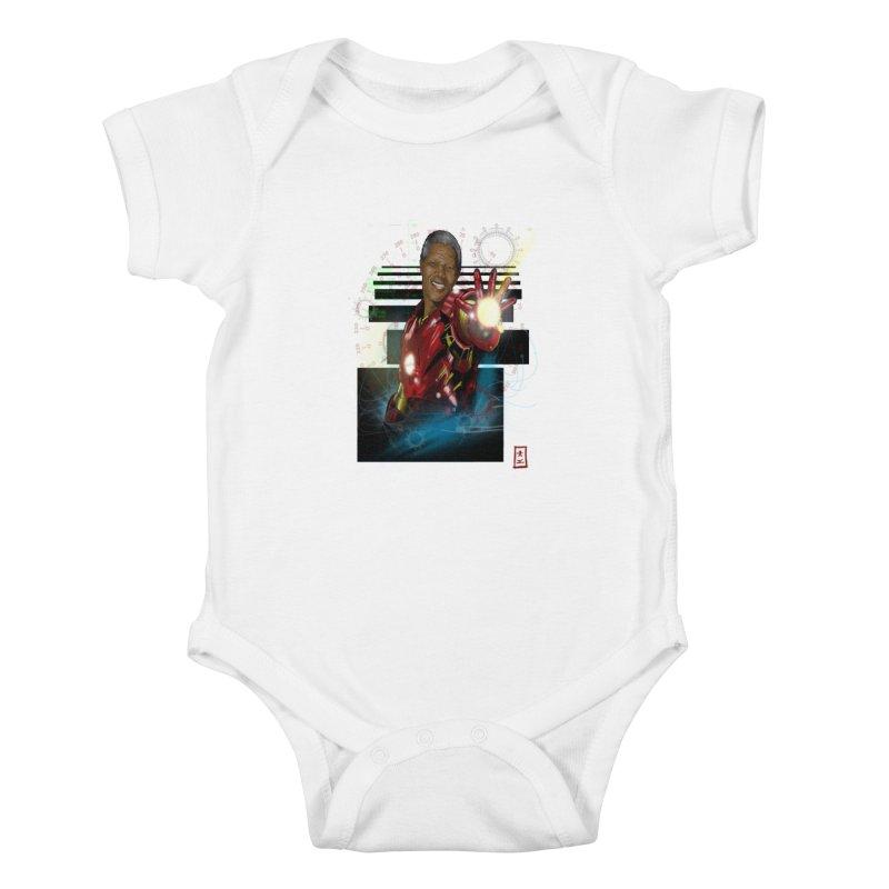 Iron Mandela Kids Baby Bodysuit by jeffcarpenter's Artist Shop