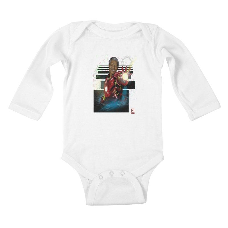 Iron Mandela Kids Baby Longsleeve Bodysuit by jeffcarpenter's Artist Shop
