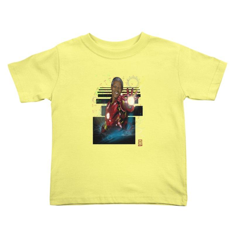 Iron Mandela Kids Toddler T-Shirt by jeffcarpenter's Artist Shop