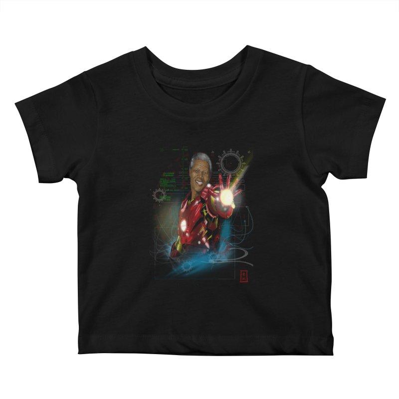 Iron Mandela Kids Baby T-Shirt by jeffcarpenter's Artist Shop