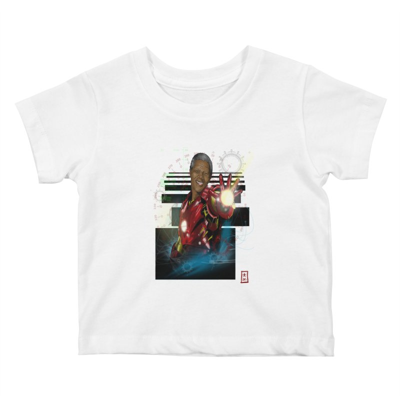 Iron Mandela Kids Baby T-Shirt by jeffcarpenter's Artist Shop