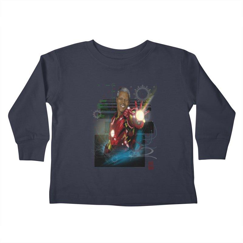 Iron Mandela Kids Toddler Longsleeve T-Shirt by jeffcarpenter's Artist Shop