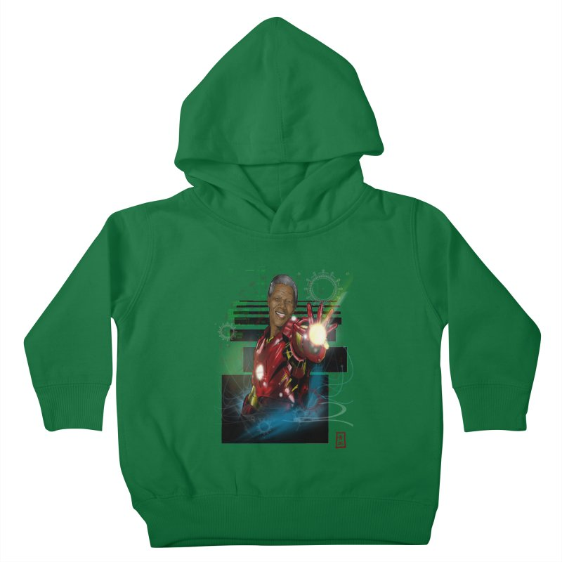 Iron Mandela Kids Toddler Pullover Hoody by jeffcarpenter's Artist Shop