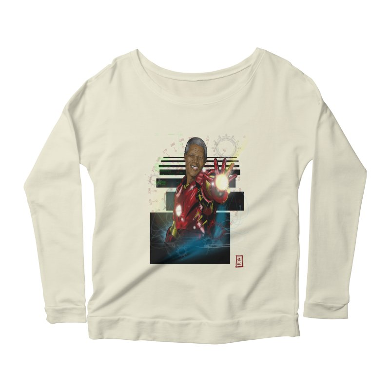 Iron Mandela Women's Longsleeve Scoopneck  by jeffcarpenter's Artist Shop