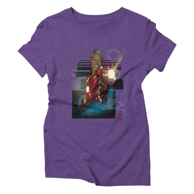 Iron Mandela Women's Triblend T-Shirt by jeffcarpenter's Artist Shop