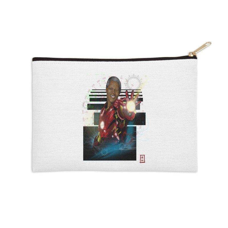 Iron Mandela Accessories Zip Pouch by jeffcarpenter's Artist Shop