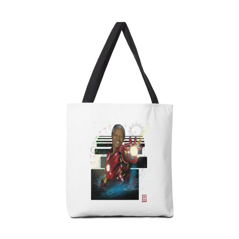 Iron Mandela Accessories Bag by jeffcarpenter's Artist Shop