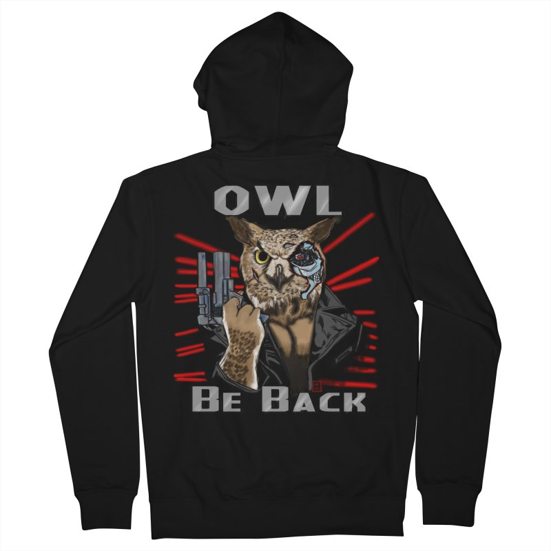 Owl Be Back Women's Zip-Up Hoody by jeffcarpenter's Artist Shop