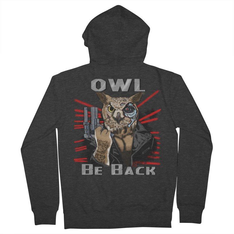 Owl Be Back Men's Zip-Up Hoody by jeffcarpenter's Artist Shop