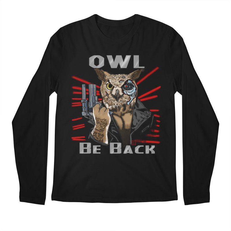 Owl Be Back Men's Longsleeve T-Shirt by jeffcarpenter's Artist Shop