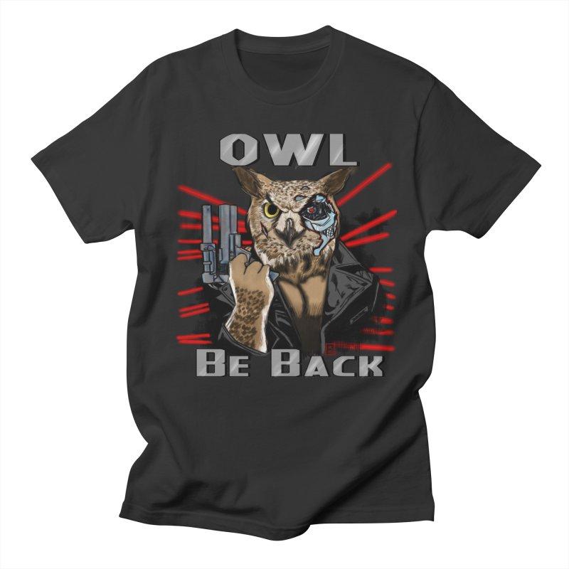 Owl Be Back Men's T-Shirt by jeffcarpenter's Artist Shop