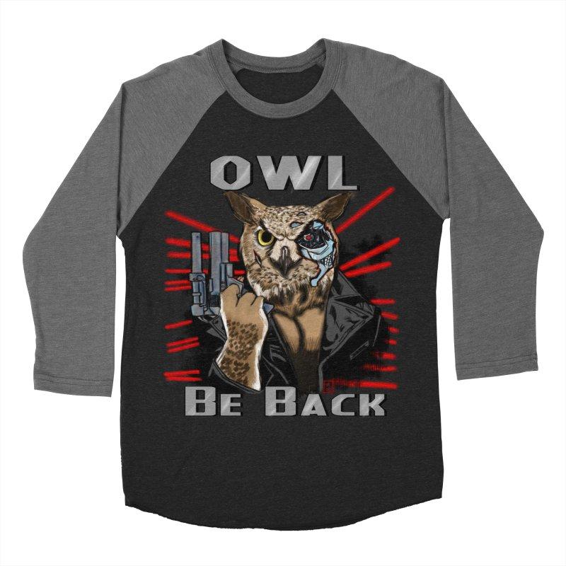 Owl Be Back Men's Baseball Triblend T-Shirt by jeffcarpenter's Artist Shop