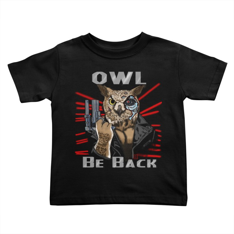 Owl Be Back Kids Toddler T-Shirt by jeffcarpenter's Artist Shop