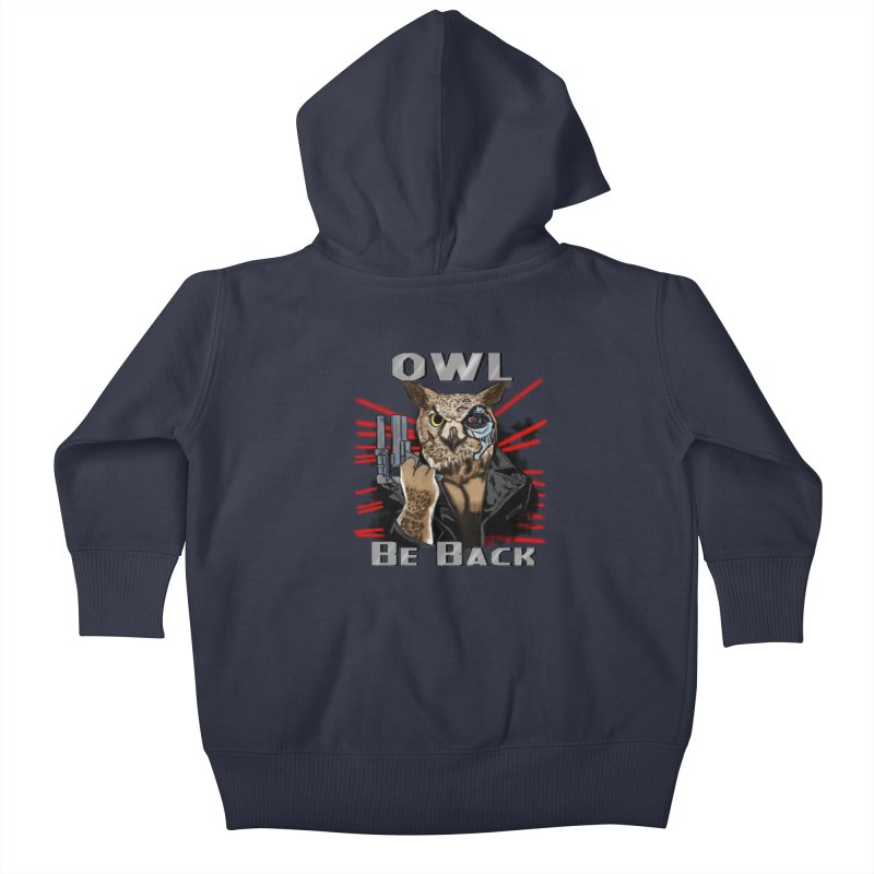 Owl Be Back Kids Baby Zip-Up Hoody by jeffcarpenter's Artist Shop