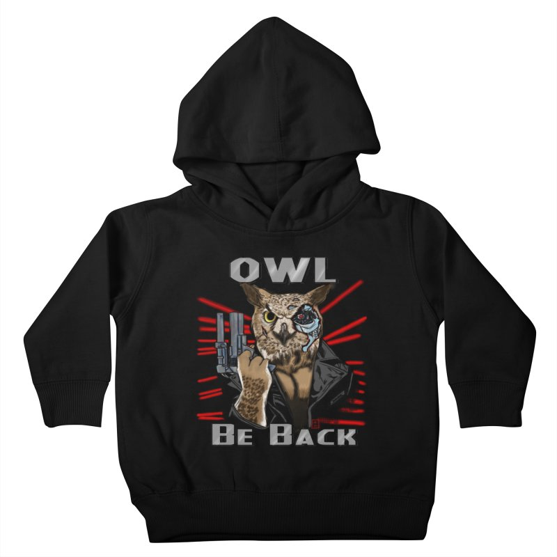 Owl Be Back Kids Toddler Pullover Hoody by jeffcarpenter's Artist Shop