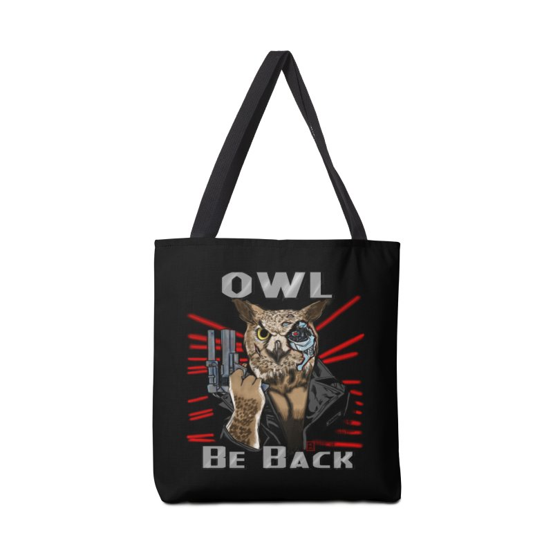 Owl Be Back Accessories Bag by jeffcarpenter's Artist Shop