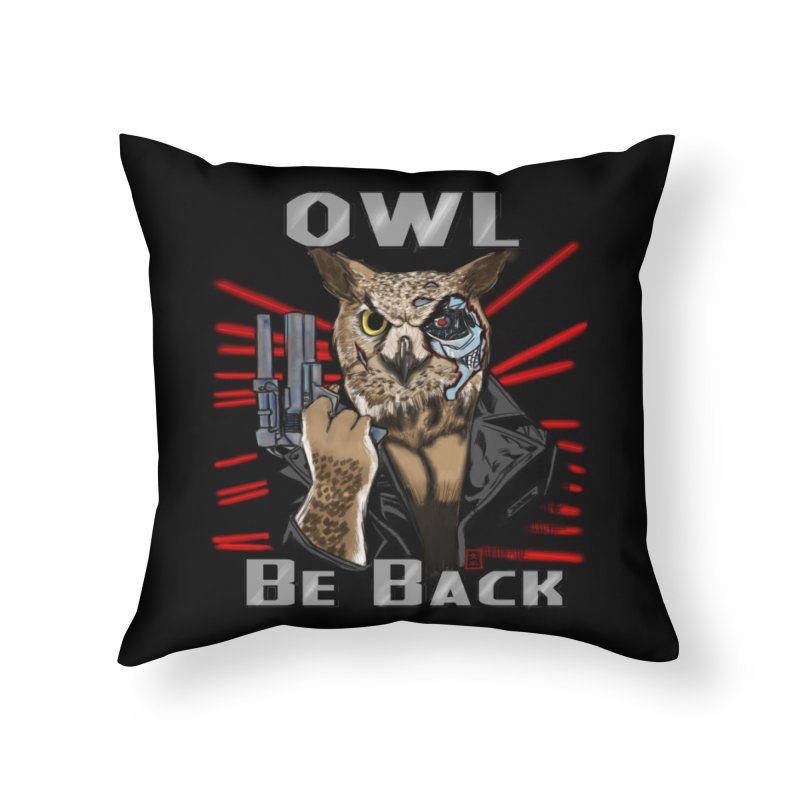 Owl Be Back Home Throw Pillow by jeffcarpenter's Artist Shop