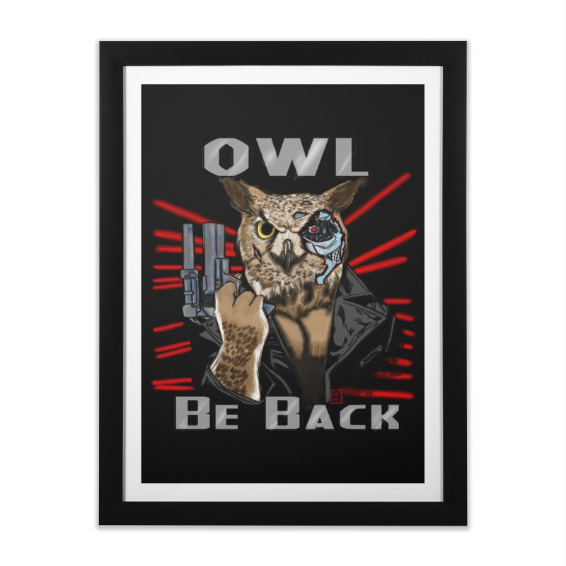 Owl Be Back Home Framed Fine Art Print by jeffcarpenter's Artist Shop