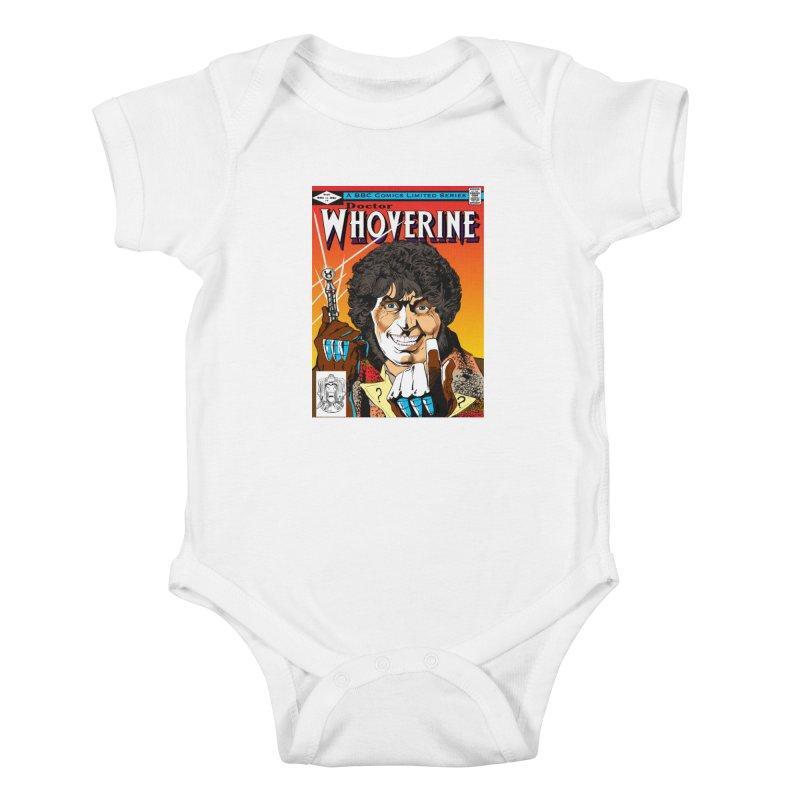 Doctor Whoverine Kids Baby Bodysuit by jeffcarpenter's Artist Shop